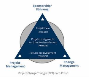 Funktionen im Veränderungsprojekt, PCT nach Prosci